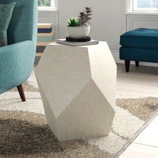 Reviews Mahn Mosaic Geometric End Table by Ivy Bronx