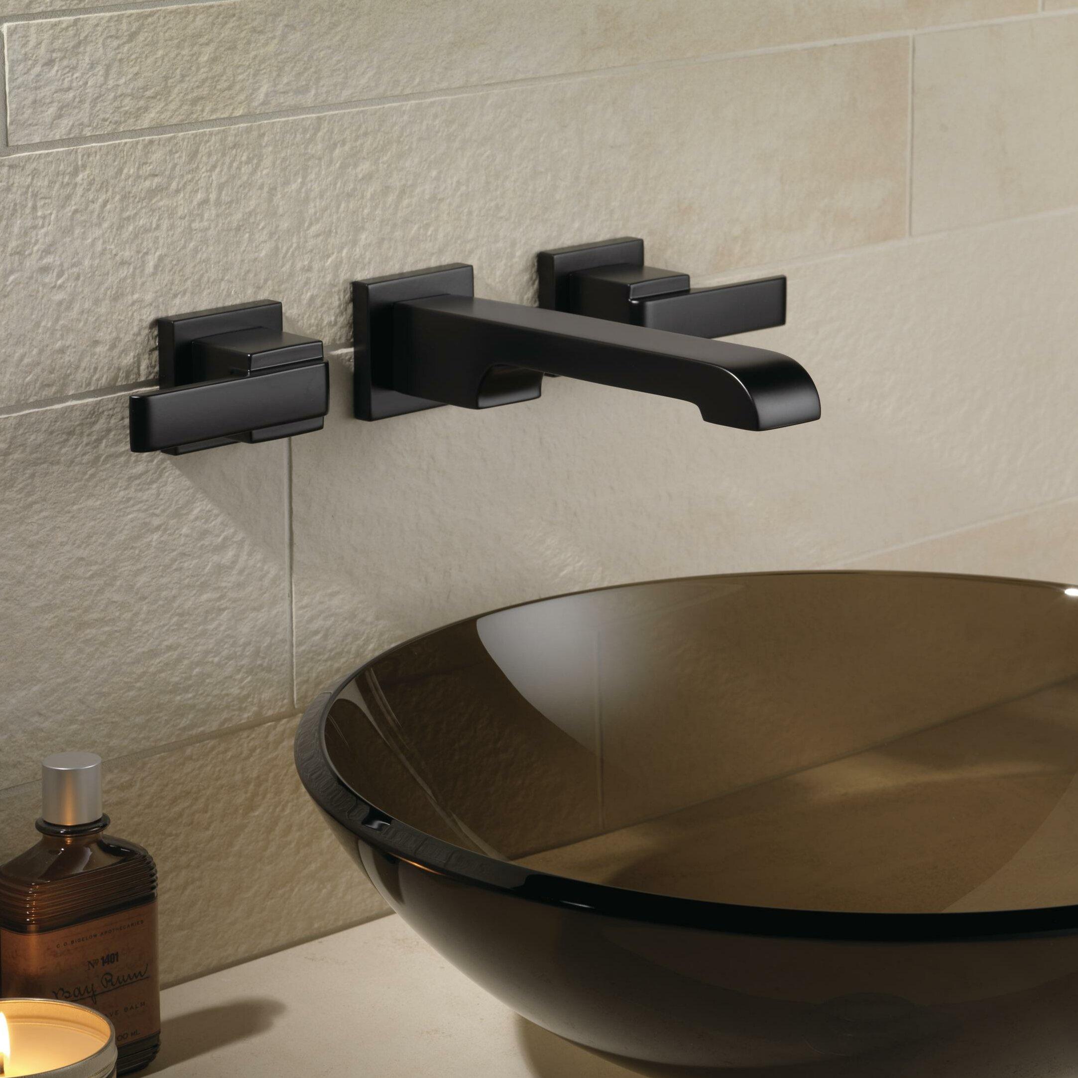 Delta Ara Two Handle Wall-Mount Lavatory Faucet & Reviews | Wayfair