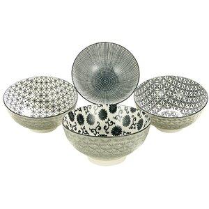New Style Black 5 Piece Museli Bowl Set