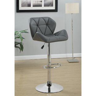 Bairnsdale Adjustable Height Swivel Bar Stool (Set Of 2) by Wade Logan Today Only Sale