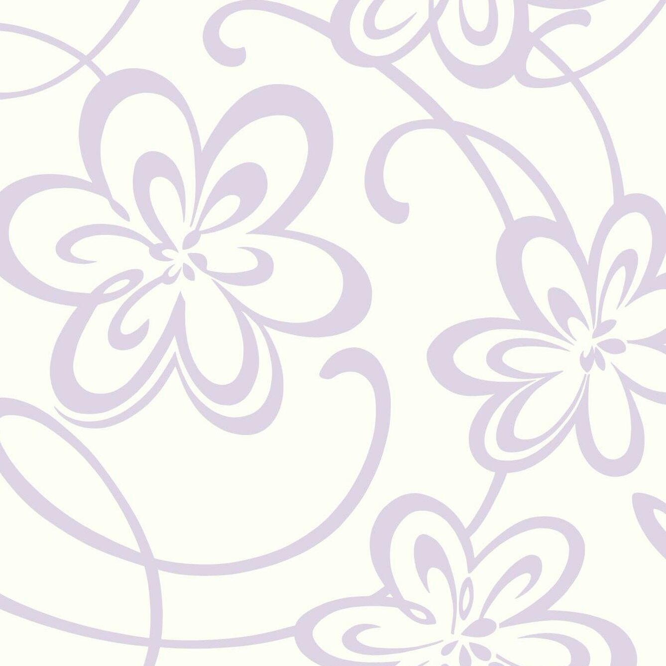 Zoomie Kids Laub Large Floral With Scrolls Removable 27 X 27