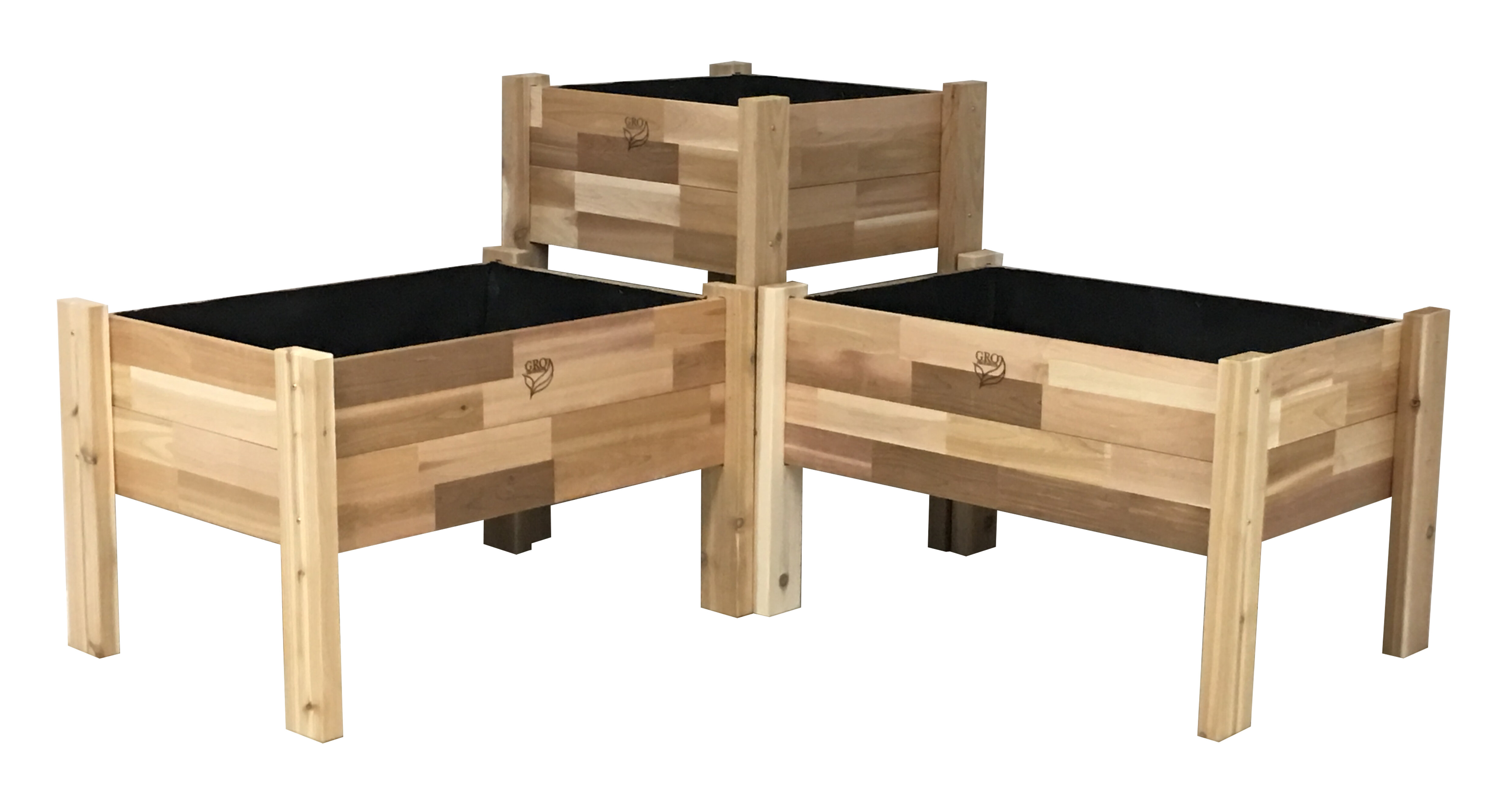 Incroyable August Grove Enloe Cedar Elevated Garden 3 Piece Planter Box Set | Wayfair