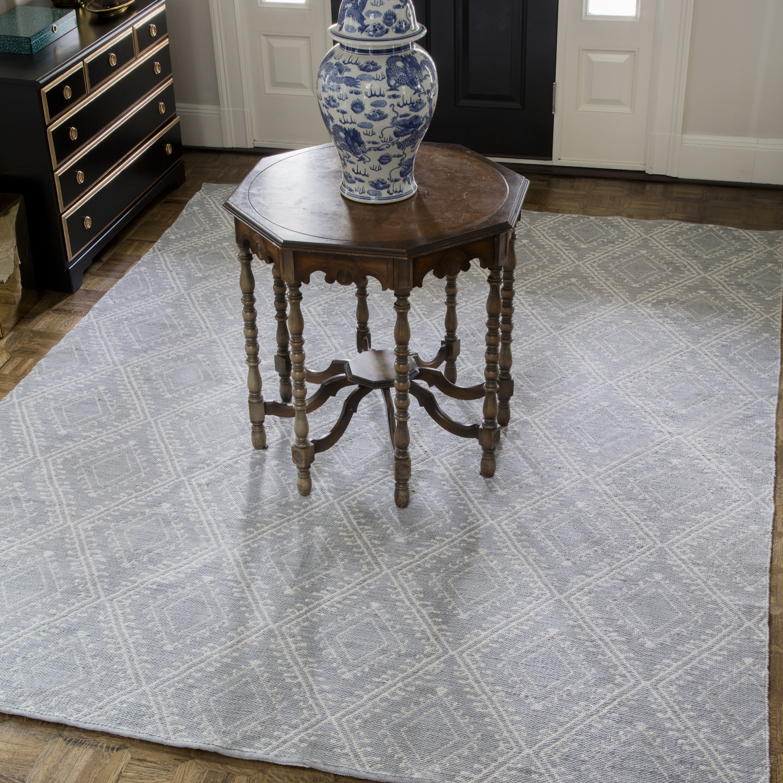Erin Gates By Momeni Easton Geometric Handmade Flatweave Gray Indoor Outdoor Area Rug Reviews Wayfair