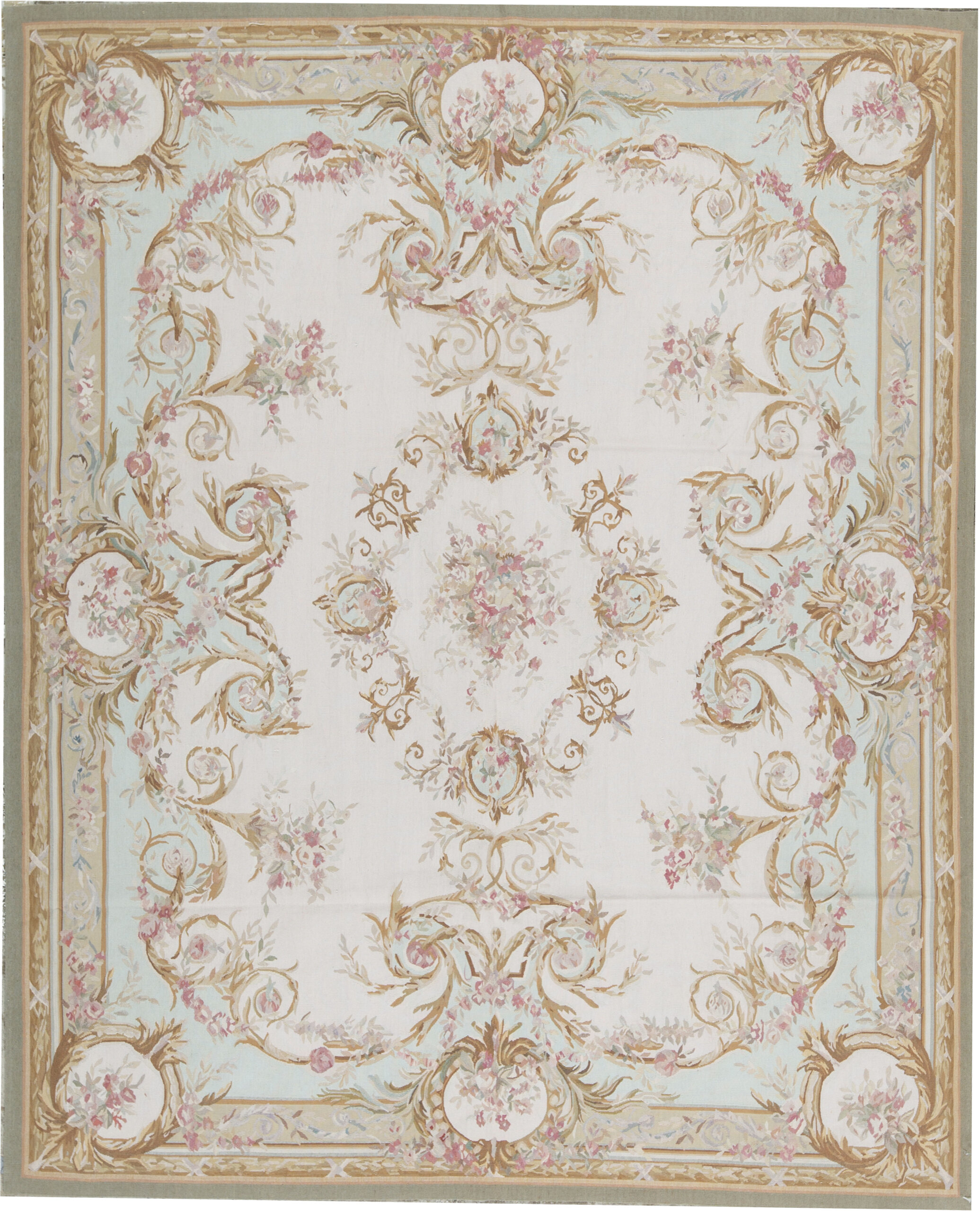 Bokara Rug Co Inc Aubusson Oriental Hand Knotted Wool Beige Green Area Rug Wayfair