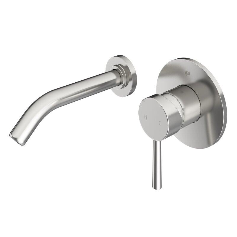 VIGO  Olus Wall Mount Bathroom Faucet Finish: Brushed Nickel
