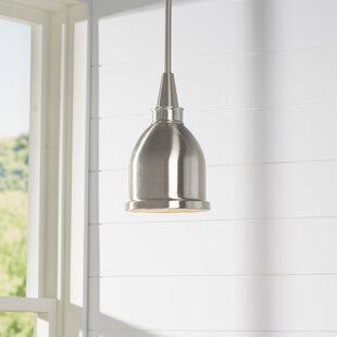 Beachcrest Home Manston 1-Light Cone Pend..
