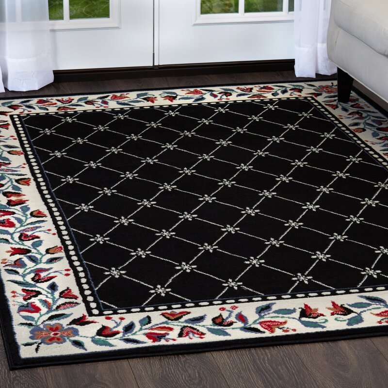 Charlton Home Modena Black Area Rug Reviews Wayfair