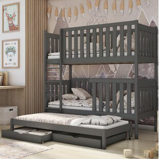 Hutchins Single (3') Bunk Bed With Drawers By Harriet Bee