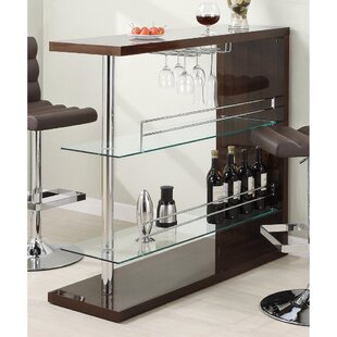 Ebern Designs Terfloth Rectangular Bar with Wine Storage
