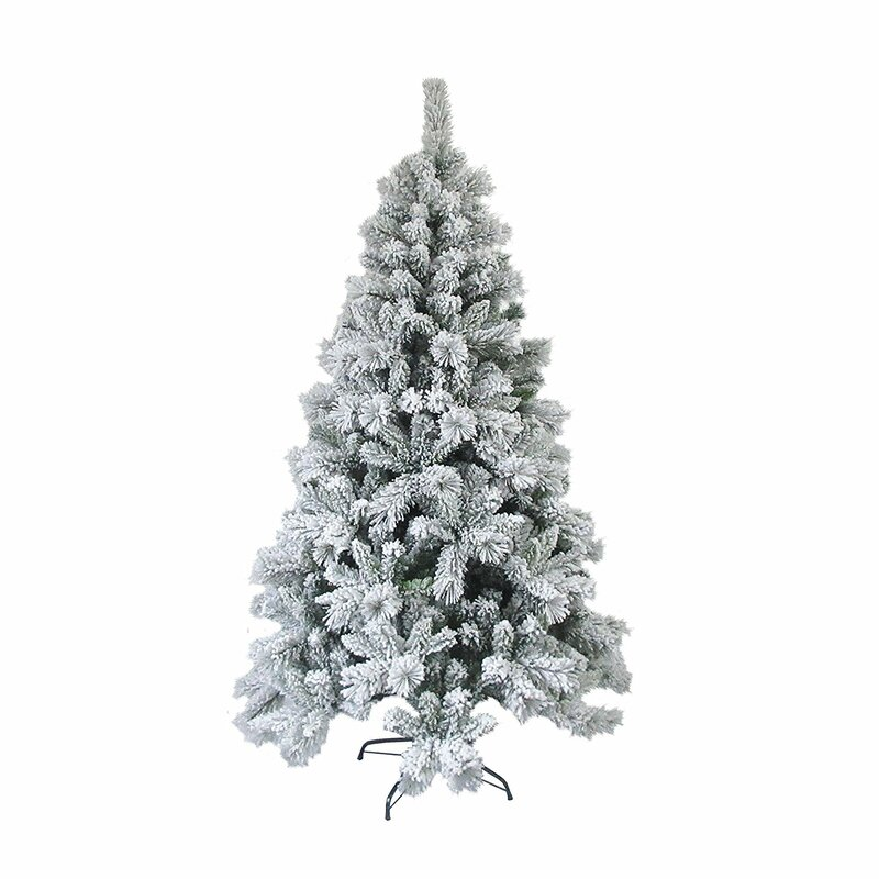 The Holiday Aisle Snow Dusted 8' Green Pine Artificial Christmas ...