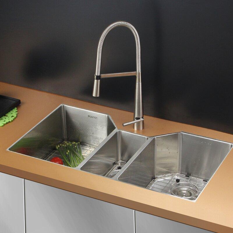 Ruvati gravena 35 x 20 triple bowl undermount kitchen sink gravena 35 x 20 triple bowl undermount kitchen sink workwithnaturefo