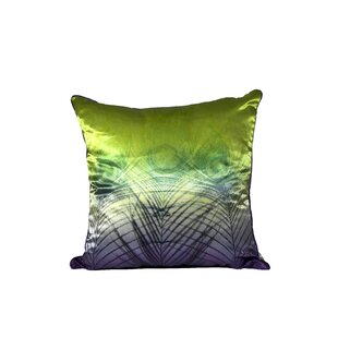Peacock Satin Throw Pillow (Set of 2)