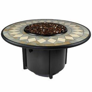Venice I Aluminum Propane Fire Pit Table by Tretco