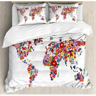 World Map Bedding | Wayfair