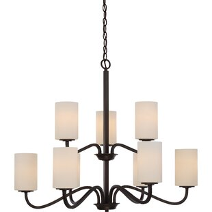 Tillmon 2 Tier 9-Light Shaded Chandelier by Charlton Home