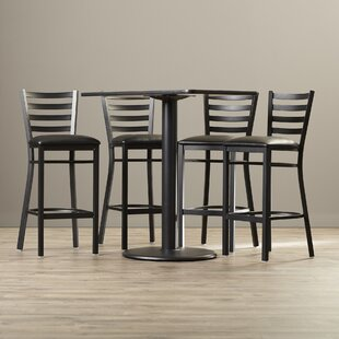 Deloris 5 Piece Pub Table Set Latitude Run