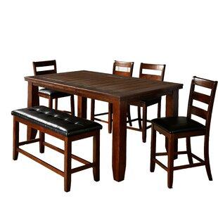 Winston Porter Viggo Solid Wood Dining Ta..