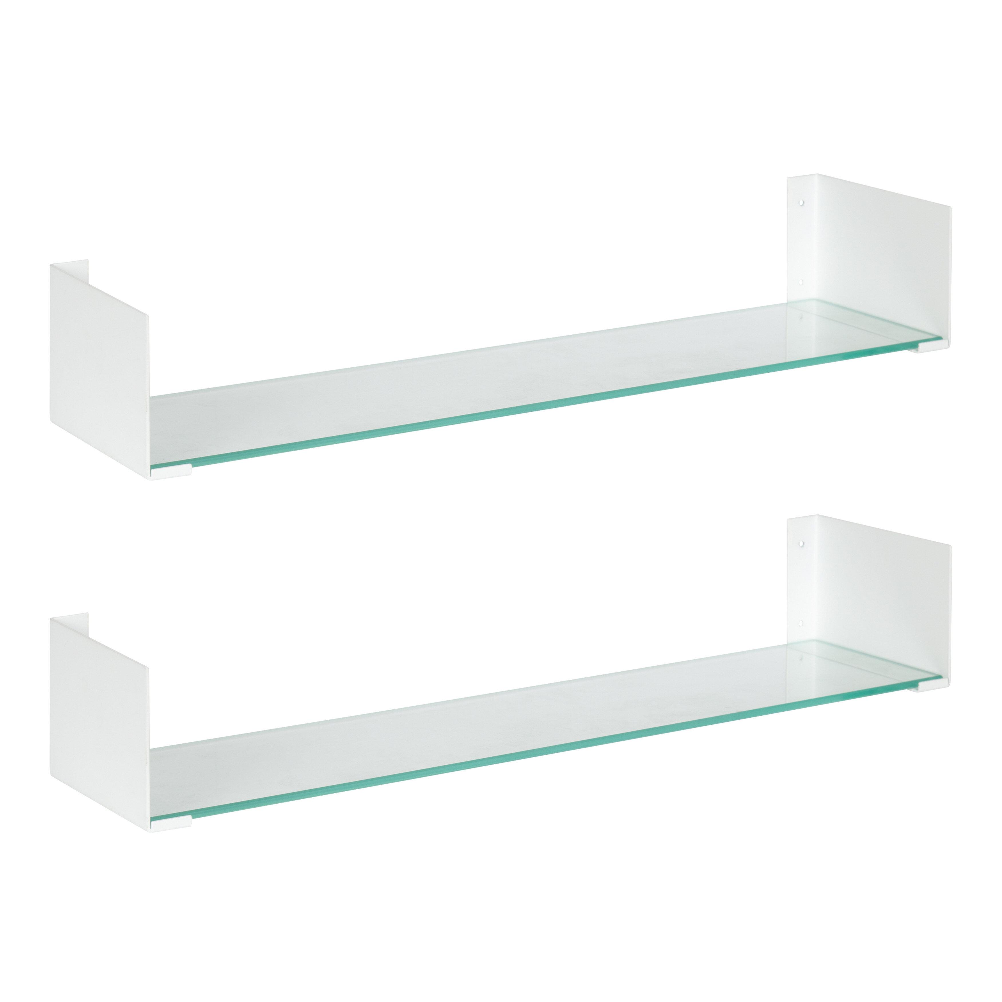 2 Piece Glass Floating Shelf Reviews Allmodern