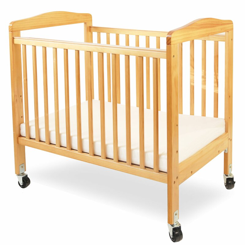 Compact Wooden Window Portable Crib With Mattress