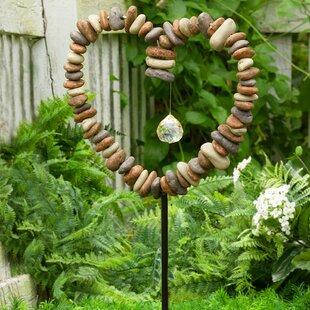 Rock Heart Decorative Garden Stake