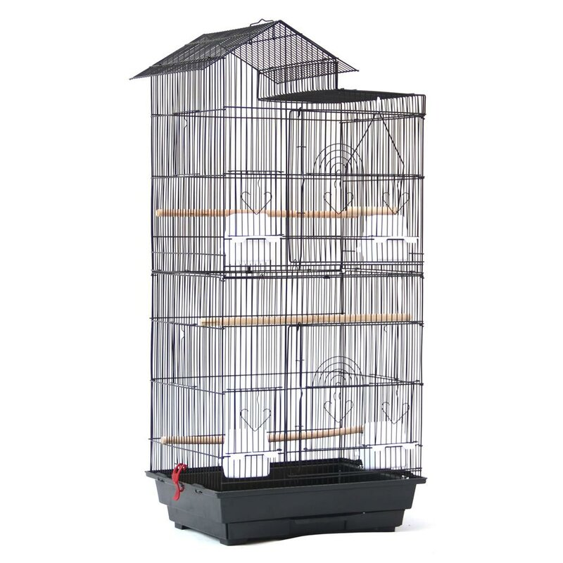 Tucker Murphy Pet Ribeiro Steel Bird Cage With Food Access Doors Reviews Wayfair