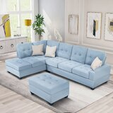 102 Left Hand Facing Sofa & Chaise with Ottoman by Latitude Run