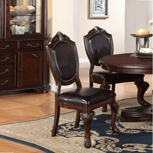 Vo Traditional Upholstered Dining Chair (Set of 2)