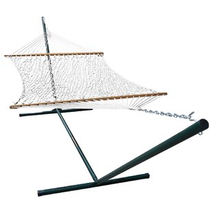 Mindi Polyester Hammock with Stand