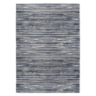 Affordable Mari Gray/Black Area Rug By Wrought Studio