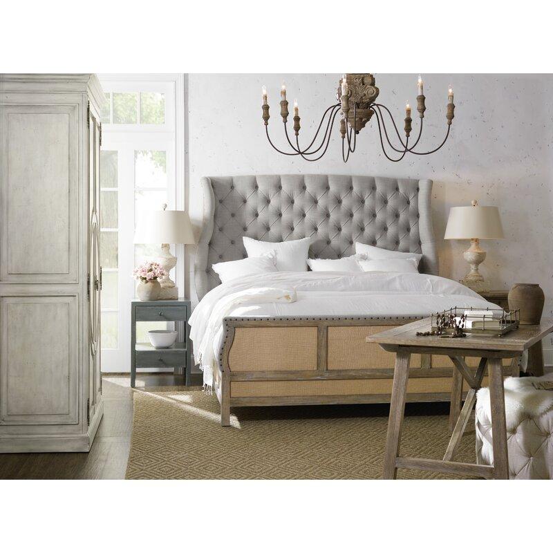 Boheme Bon Vivant De Upholstered Sleigh Bed