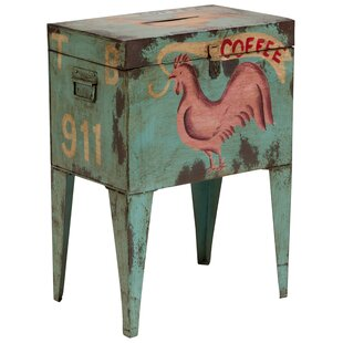 Best Reviews East Rolstone Rooster Ballot Box End Table By August Grove