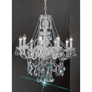 Classic Lighting Monticello 8-Light Candle Style Chandelier