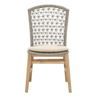 Bayou Breeze Gutierrez Wooden Armless Upholstered Dining Chair (Set of 2)
