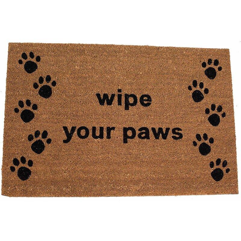 Gracie Oaks Abye Wipe Your Paws Coir Oversized 35 X 24 Non Slip Outdoor Door Mat Wayfair