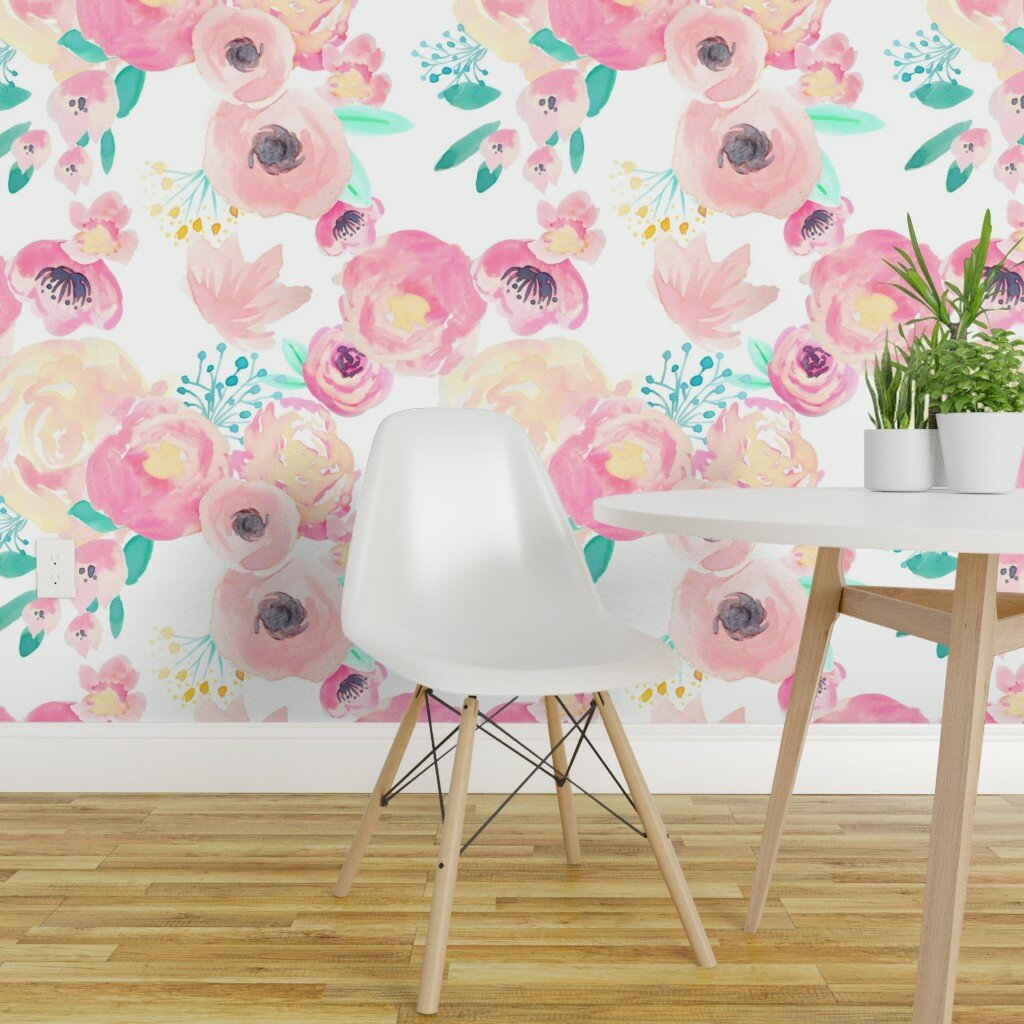 Bungalow Rose Titsworth Floral Wallpaper Panel Wayfair