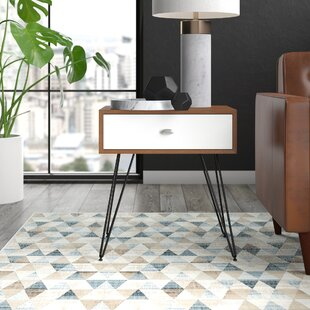 Stender End Table with Storage by Mercury Row