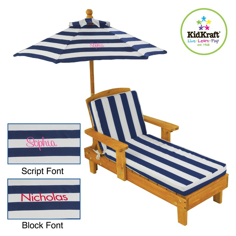 Outdoor Chaise With Umbrella Kidkraft 00105