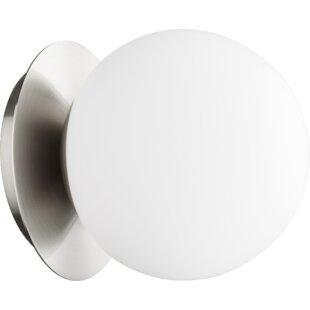 Cass Globe 1-Light Semi Flush Mount by George Oliver