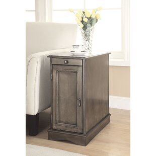 Affordable Price Woodrow End Table with Storage by Alcott Hill