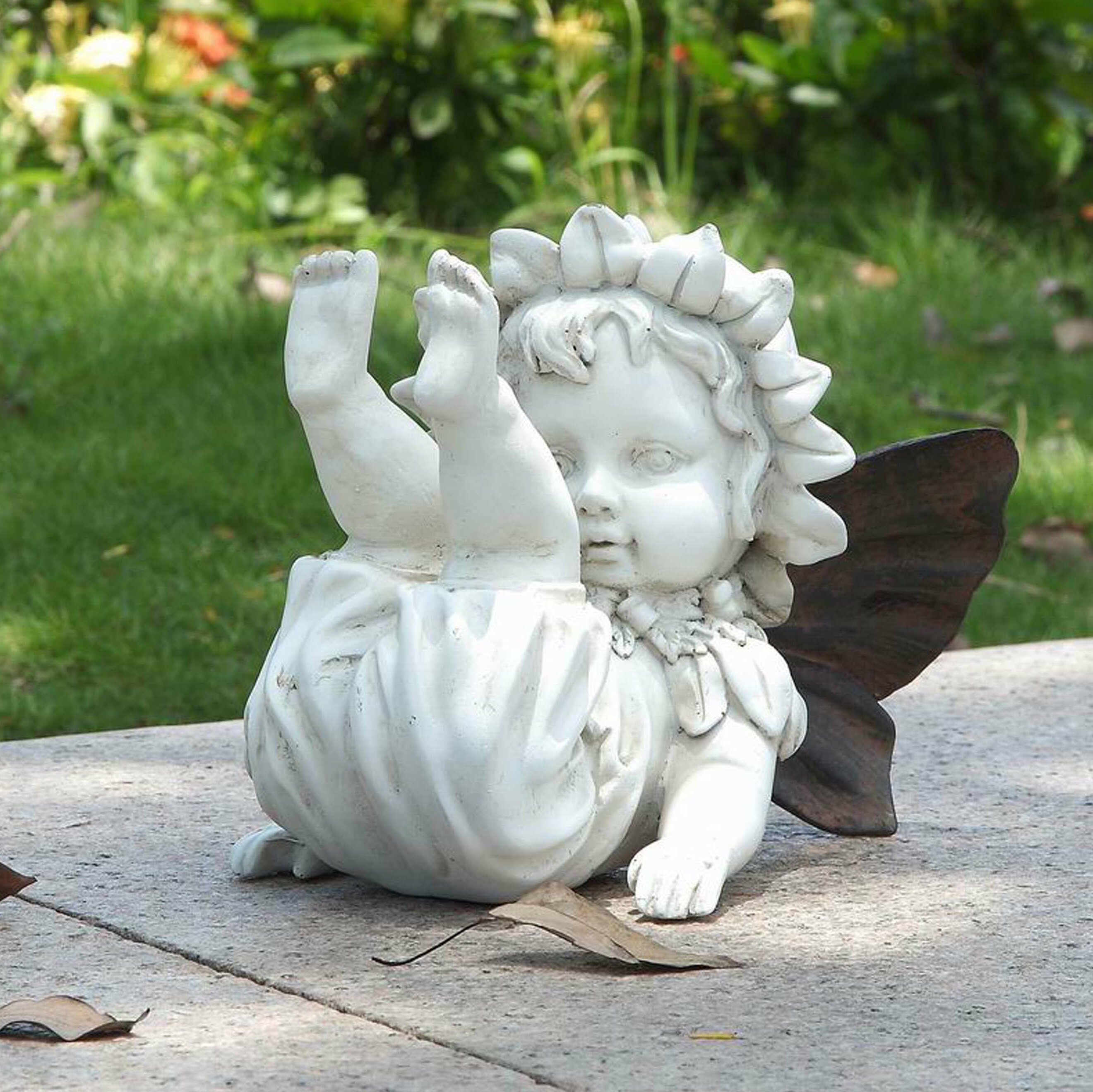 Collectibles Fantasy Mythical Magic Collectibles Baby Fairy Crawling Statue Home Yard Or Garden Decor Free Shipping Fairy Whitelabel Group
