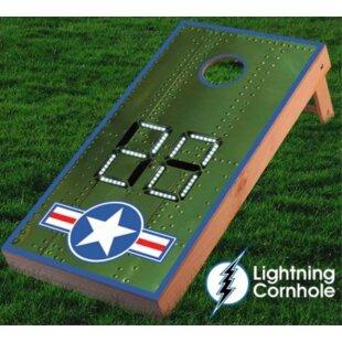 Lightning Cornhole Electronic Scoring Air Force Star Cornhole Board