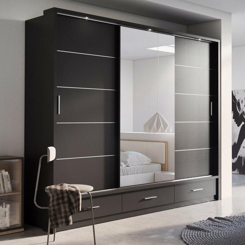 Wardrobe Design Bedroom Modern With Mirror