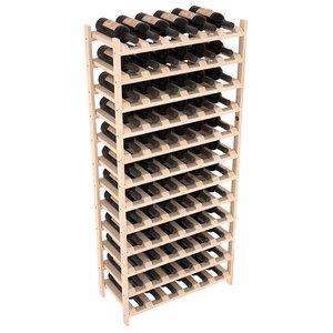 Karnes Pine Stackable 72 Bottle Floor Wine Rack