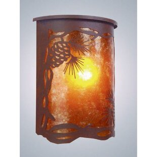 Pinecone 1-Light Outdoor Flush Mount by S..