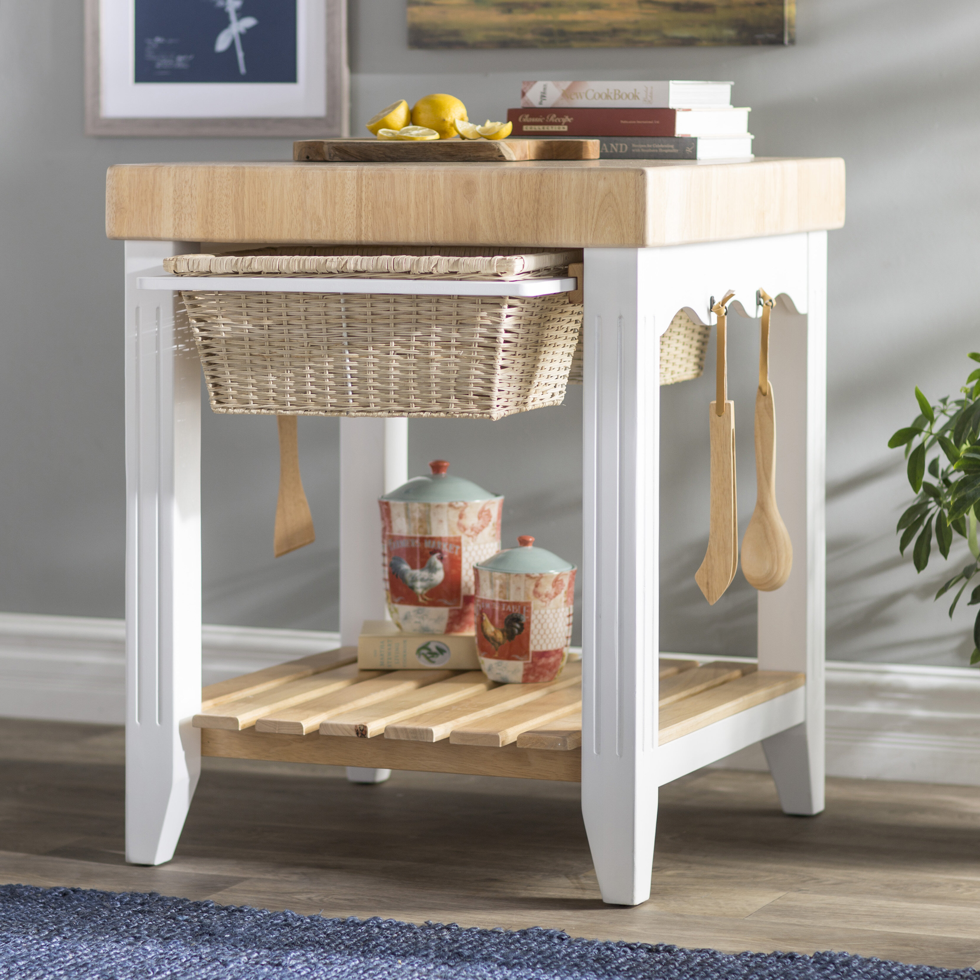 Red Barrel Studio Behling Prep Table With Butcher Block Top Reviews Wayfair Ca
