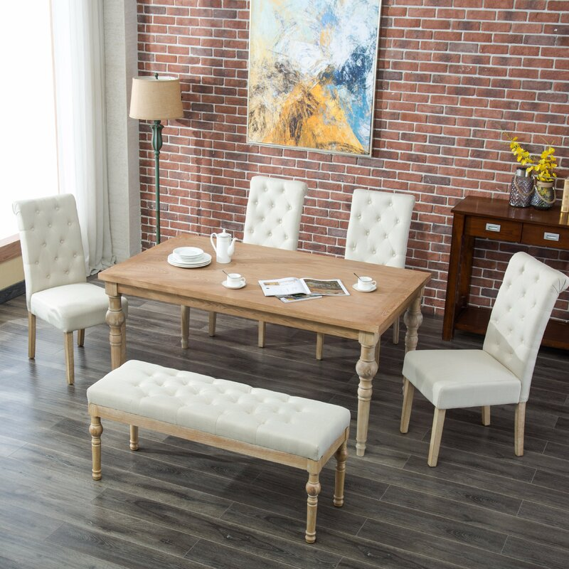 Bungalow Rose Roosa Living Room Collection Reviews: Bungalow Rose Kenleigh 6 Piece Dining Set & Reviews
