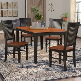 Pillar 5 Piece Extendable Breakfast Nook Dining Set August Grove