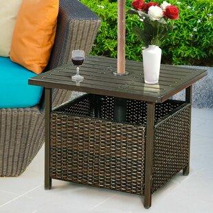 End Table With Umbrella Hole Wayfair