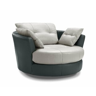 Kerry Swivel Barrel Chair by Orren Ellis 2019 Coupon