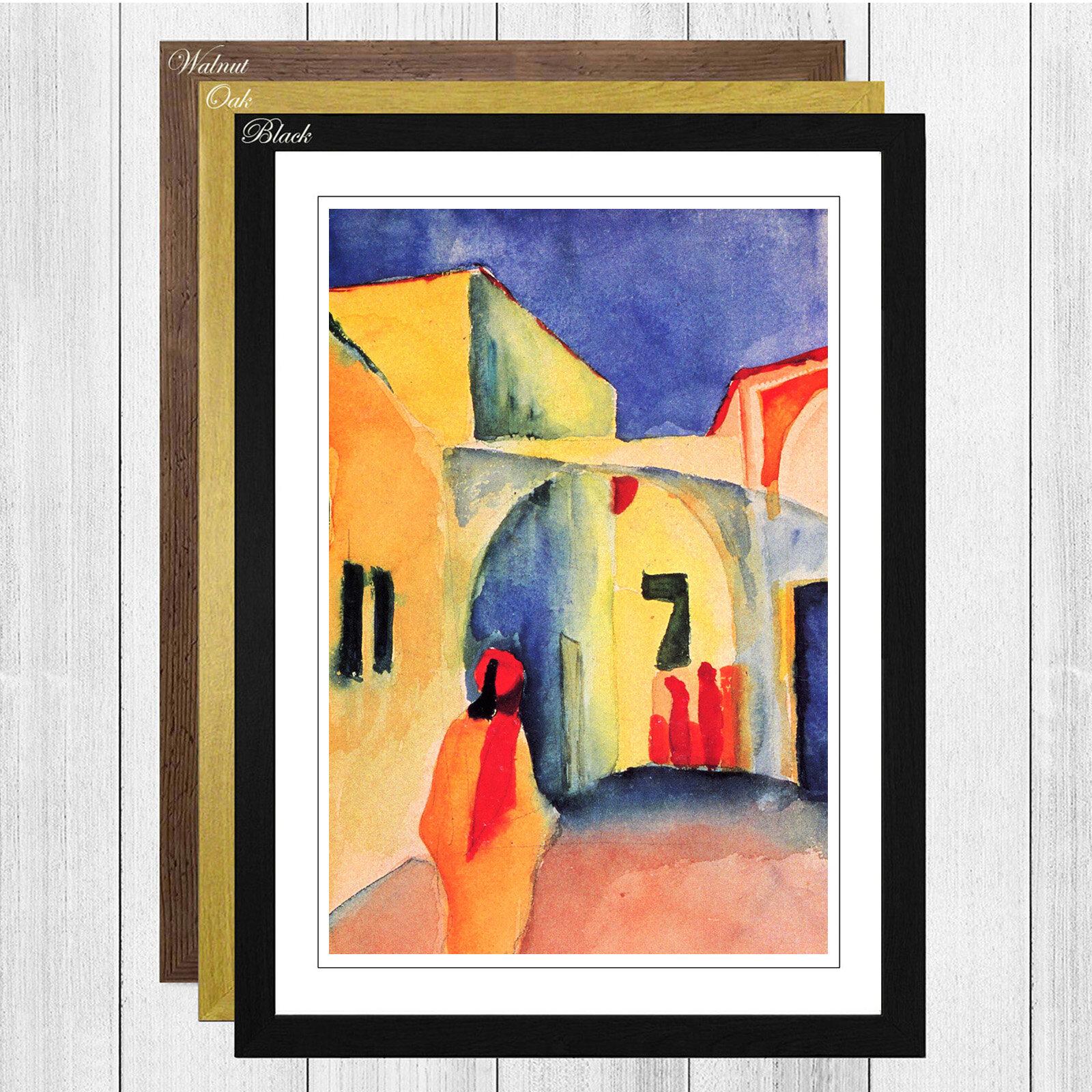 Big Box Art \'View into a Lane\' by August Macke Framed Wall art ...